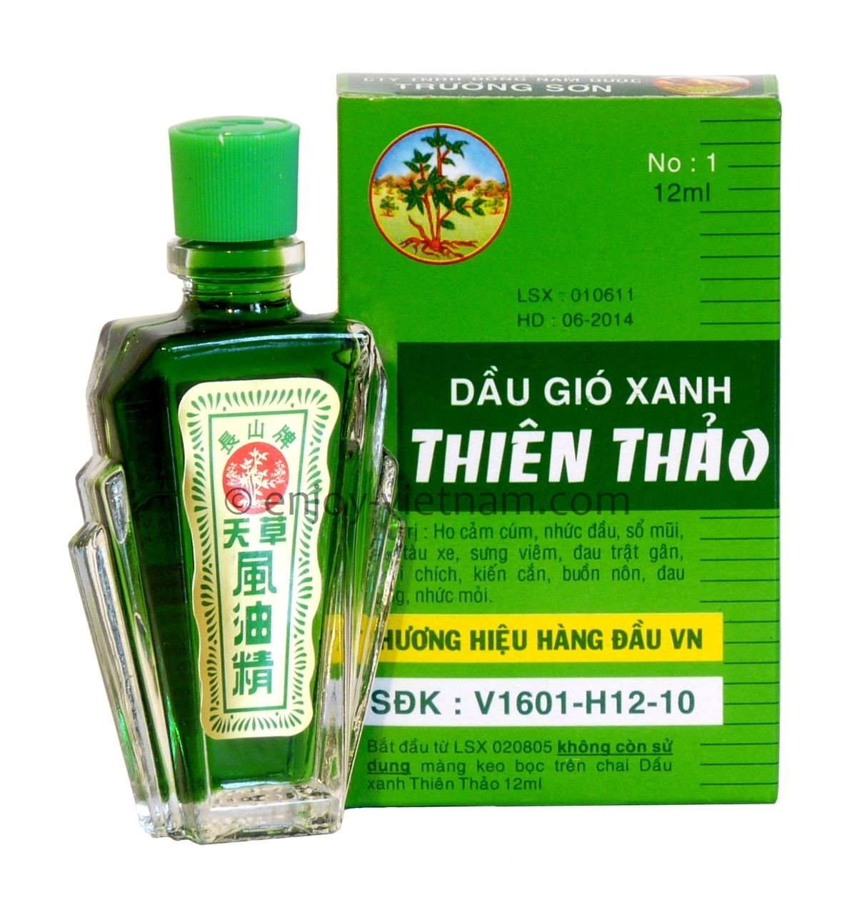 Thien thao medicated oil green medicated oil made in